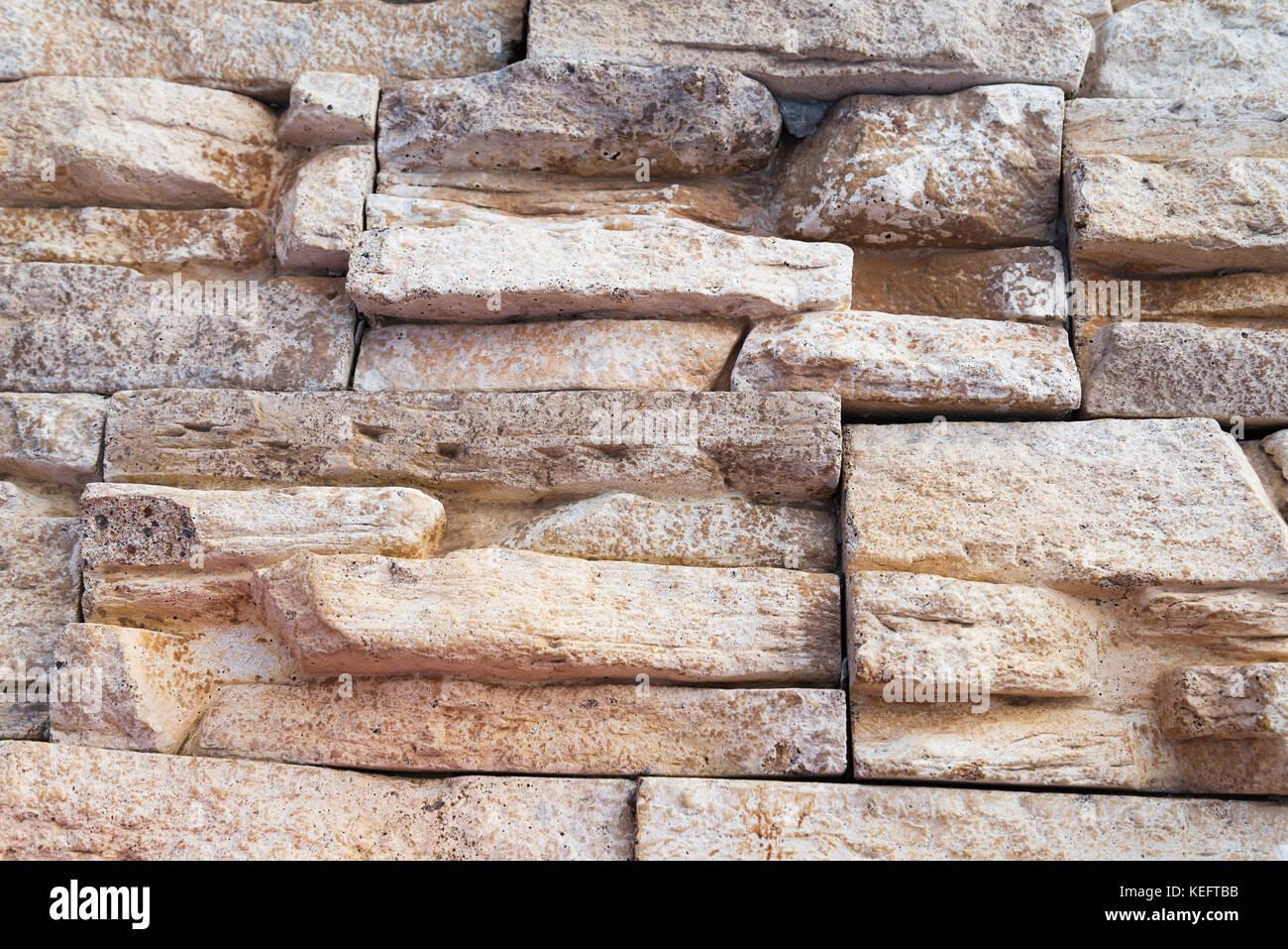 Texture pietra beige piastrelle a muro foto & immagine stock