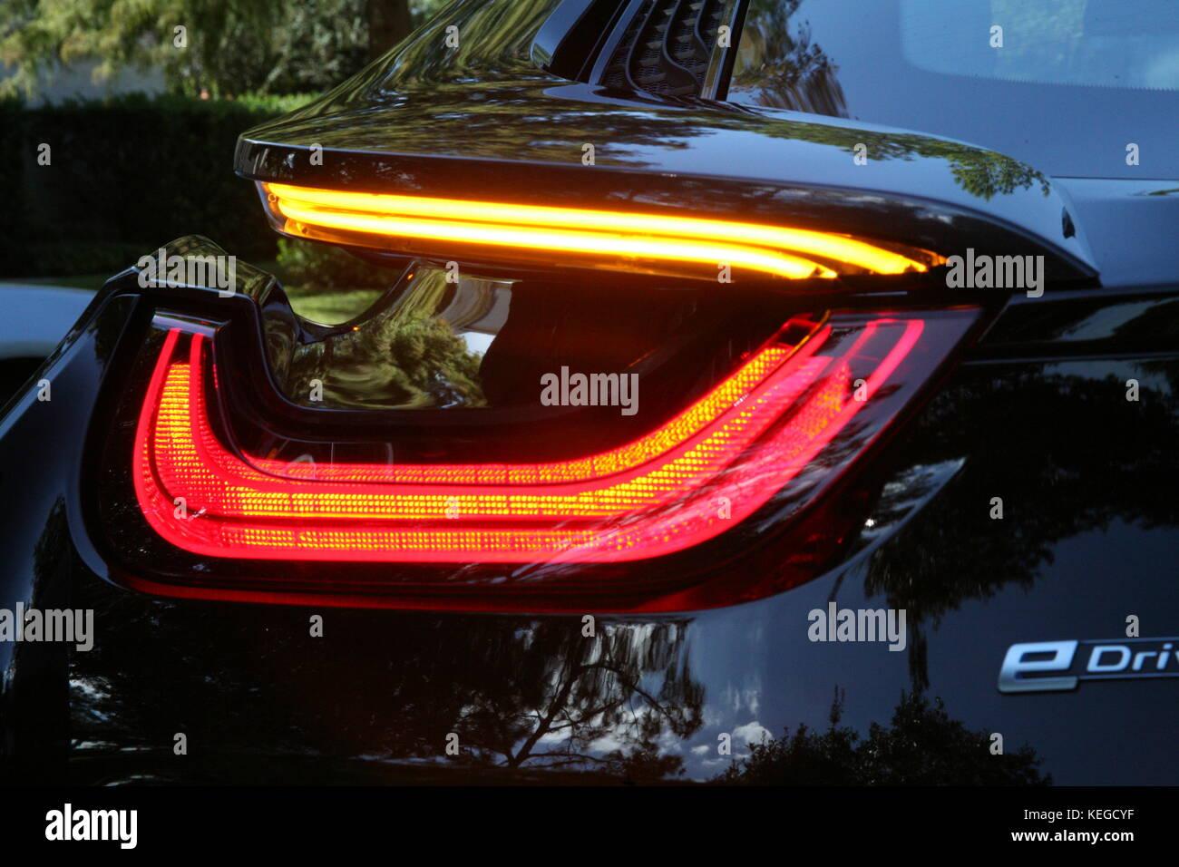 Electric super car ....design di luci Immagini Stock