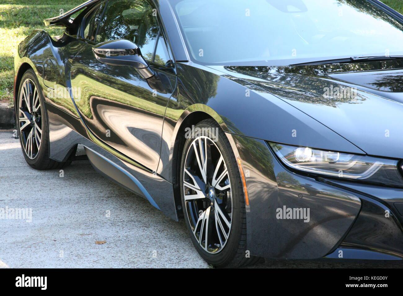 Electric super car .... Immagini Stock