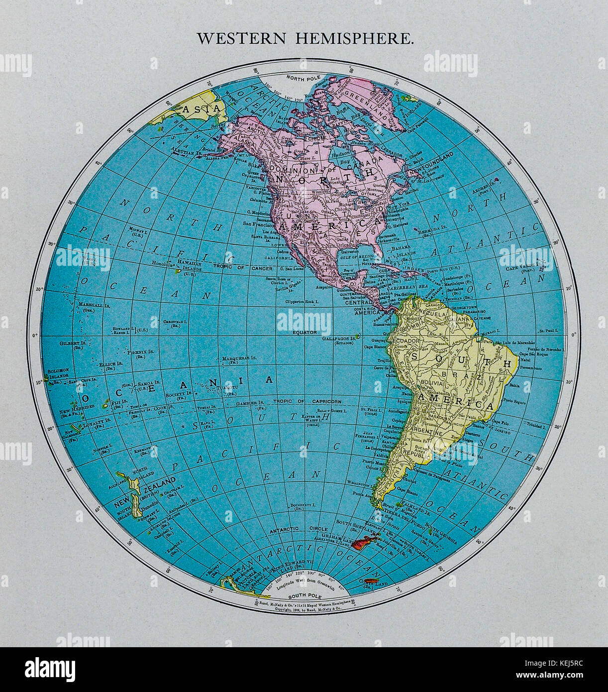 America Occidentale Cartina.Mcnally Mondo Antico Emisfero Occidentale Mappa 1911 Mostra America Del Nord E America Del Sud Foto Stock Alamy