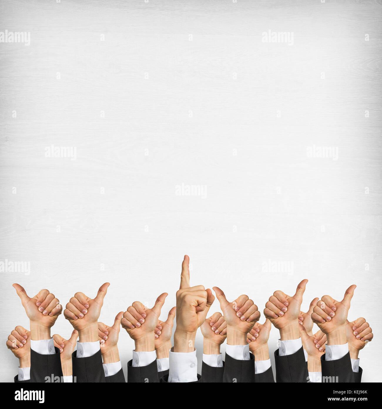 Aziende e Lavoro di squadra concetto Immagini Stock