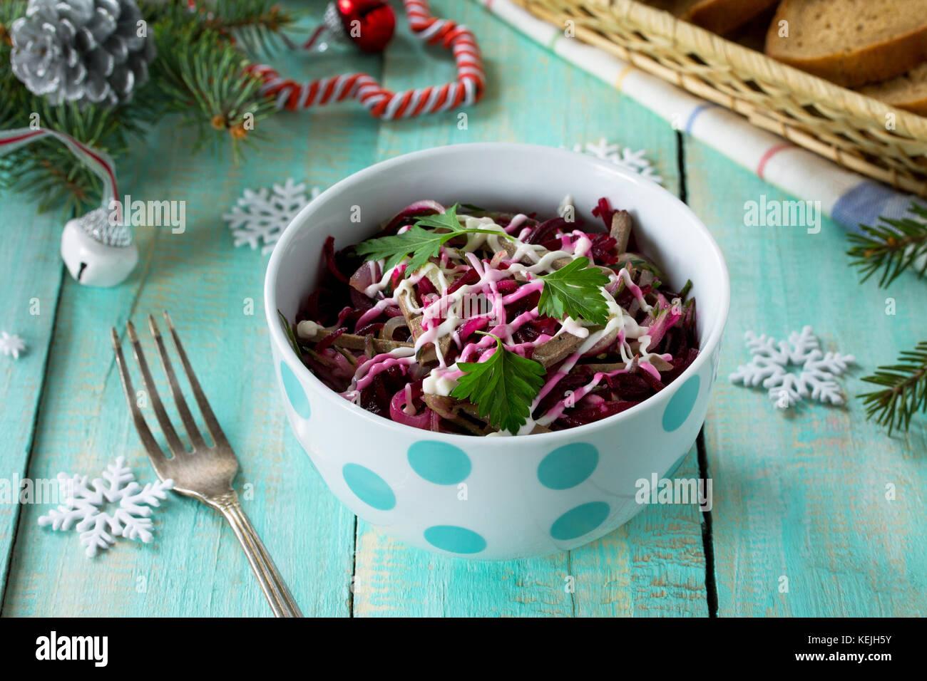 Antipasti Per Natale Di Carne.Antipasti Fatti In Casa Su Una Festa Di Natale Nella Tabella Con