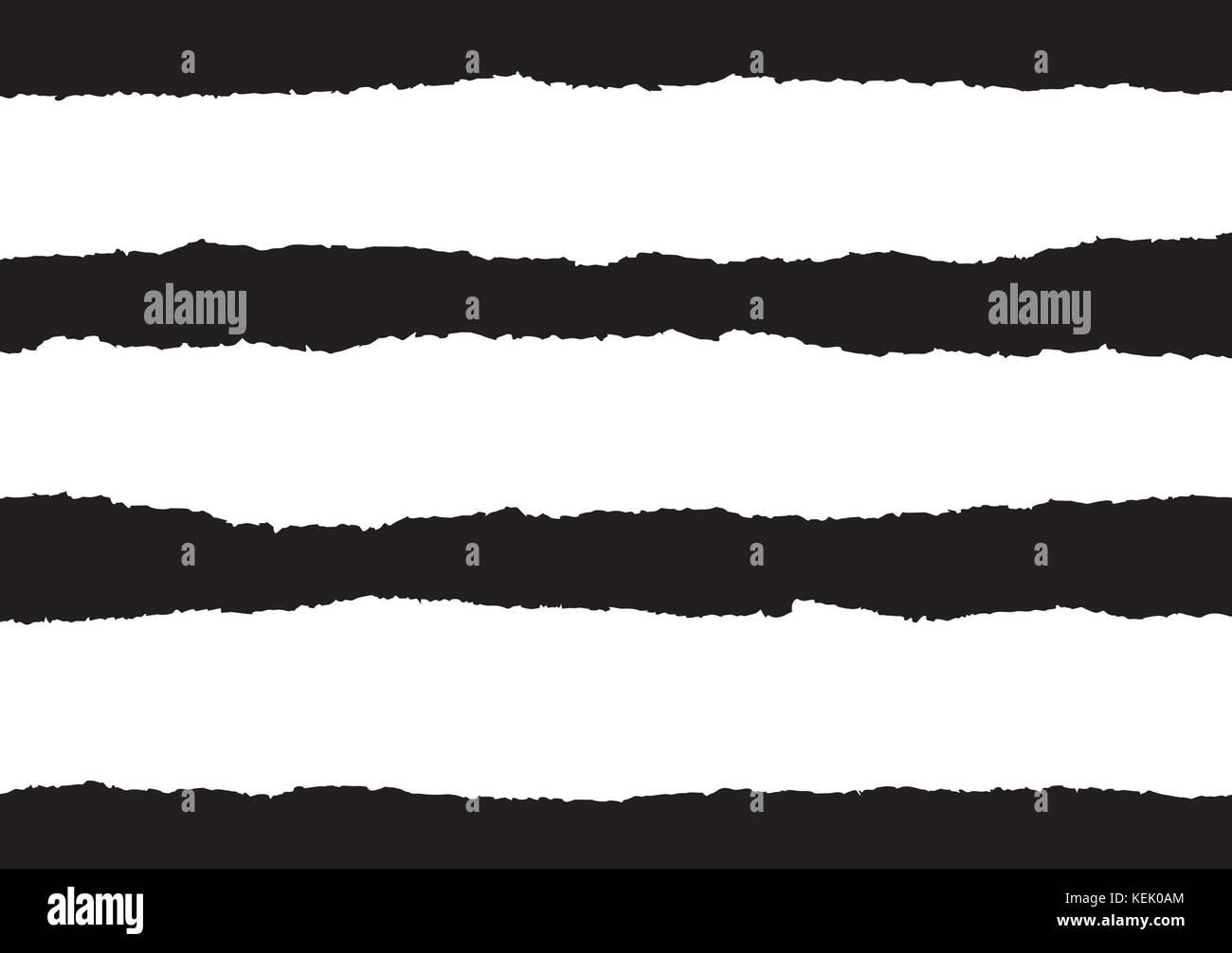 Carta strappata vettori su sfondo nero Immagini Stock