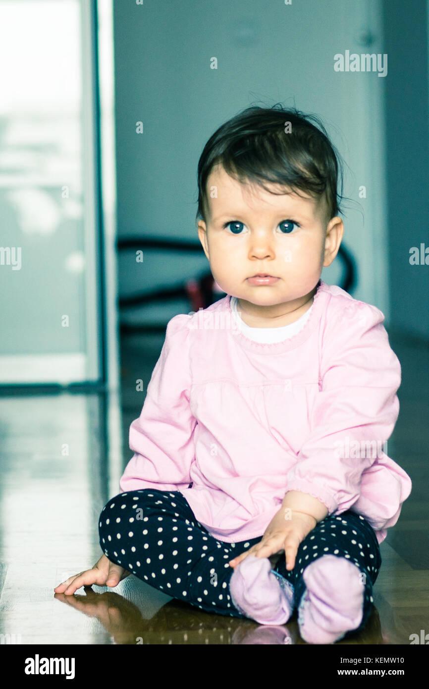 Un bambino portret Immagini Stock