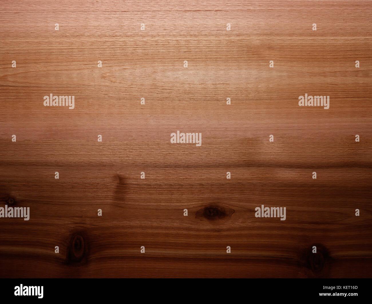 Liscio rosso caldo legno di cedro sfondo del pannello con nodi Foto ...