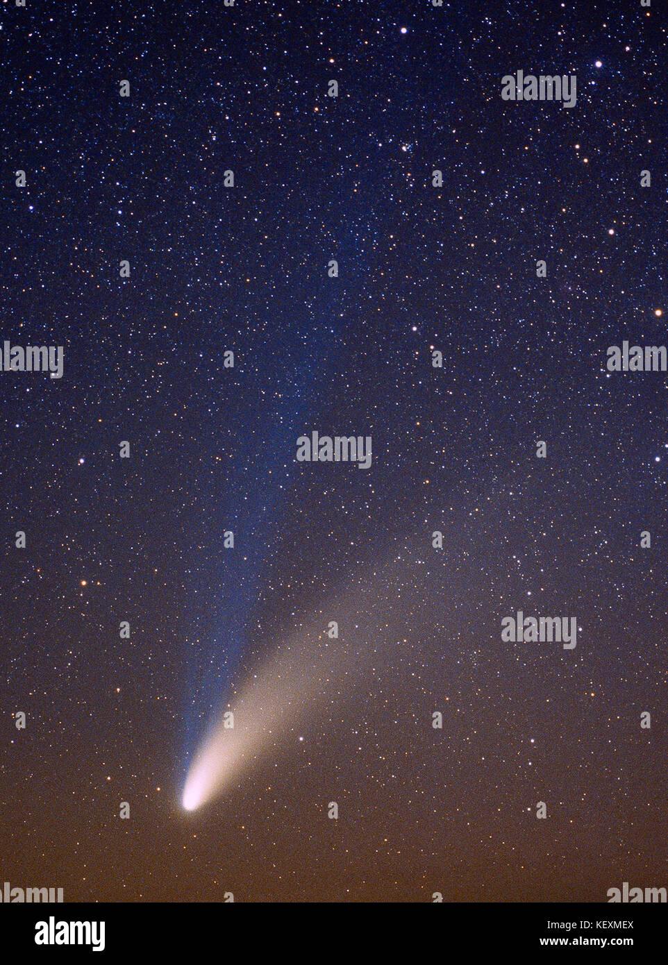Spazio e astronomia la cometa Hale Bopp a. 1997. Immagini Stock