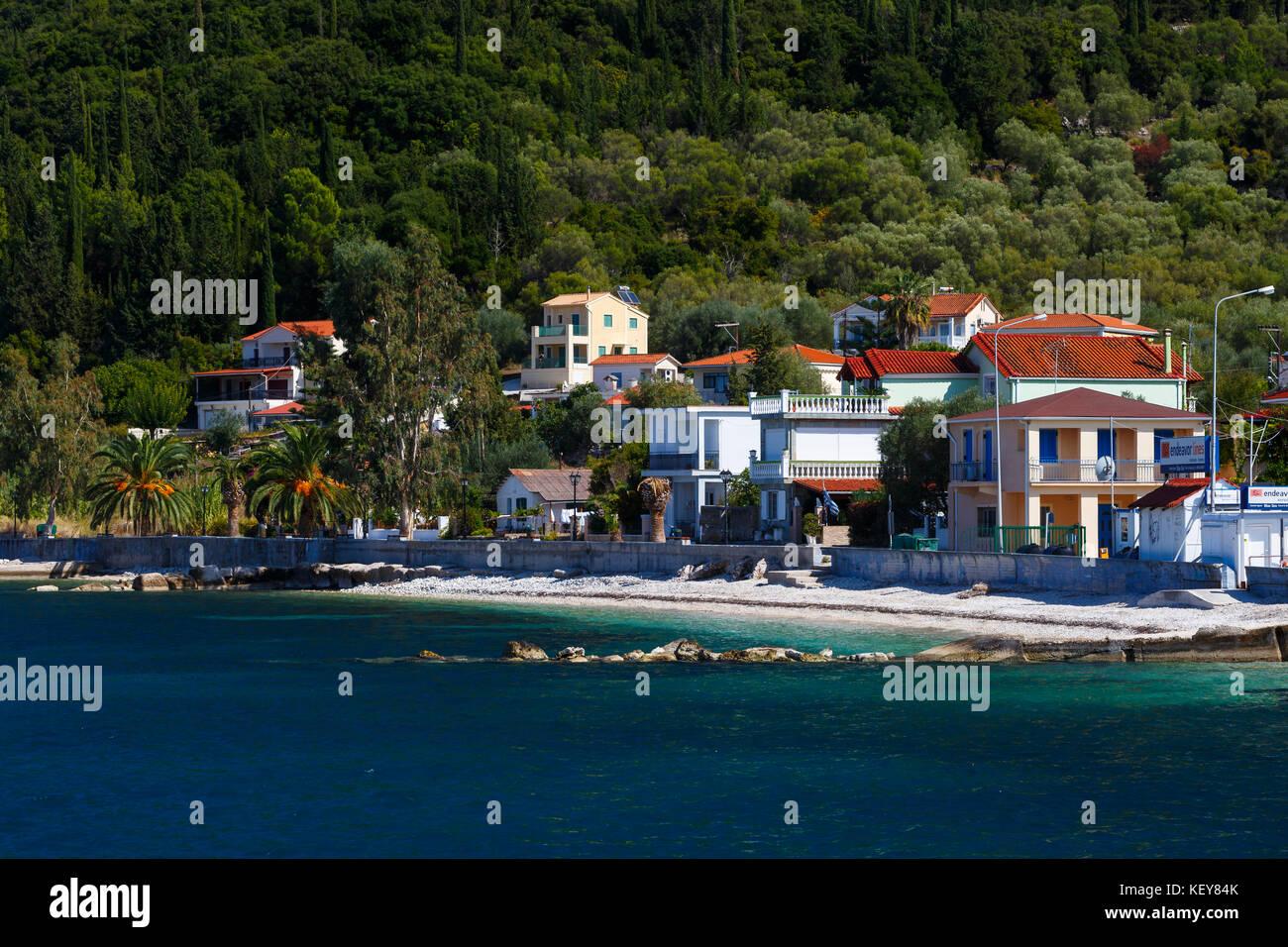 Sami villaggio sull'isola di Cefalonia in Grecia. Immagini Stock