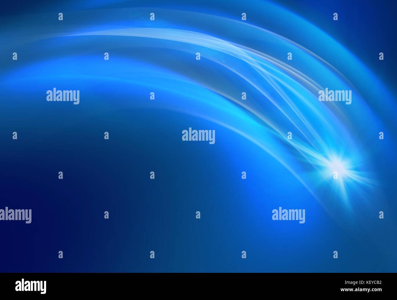 Sfondo Blu Con Curve Trasparente E Flare Foto Immagine Stock