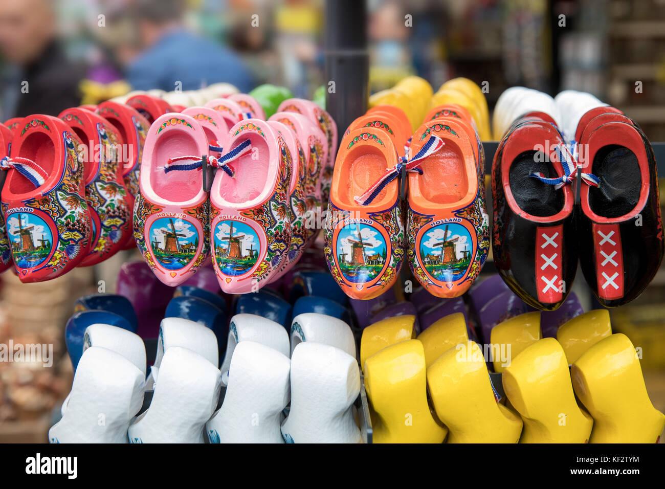 Zoccoli di souvenir in amsterdam, Paesi Bassi Immagini Stock