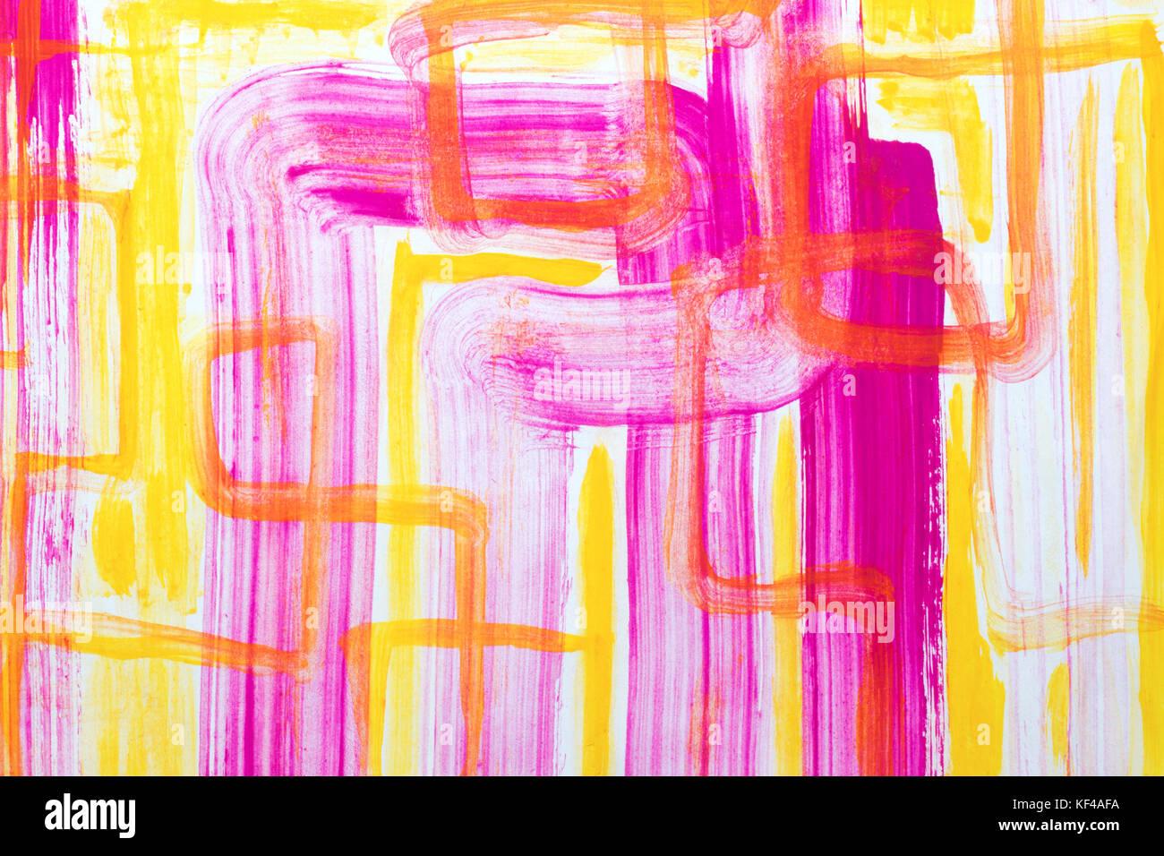L'arte astratta sfondo. il dipinto a olio su tela verde e giallo texture. Frammento di opere d'arte. macchie Immagini Stock
