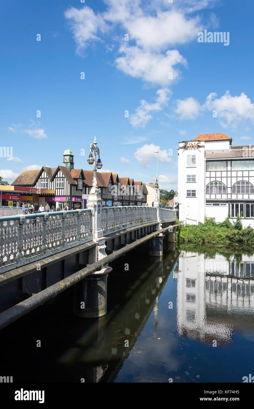 Taunton città ponte sul fiume tono, Bridge Street, Taunton, Somerset, Inghilterra, Regno Unito Immagini Stock