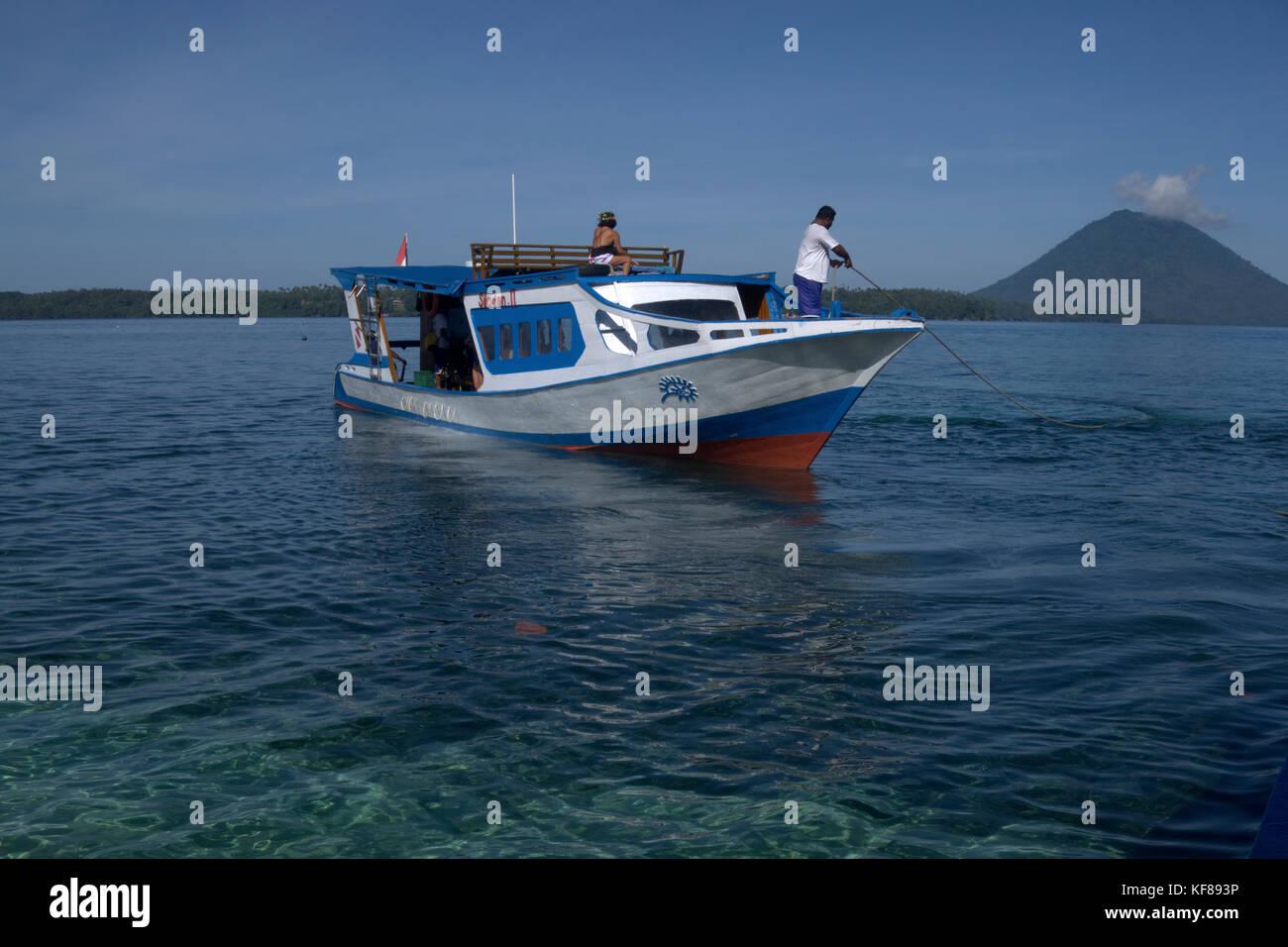 Immersioni nel parco marino di Bunaken in Nord Sulawesi, Indonesia Immagini Stock