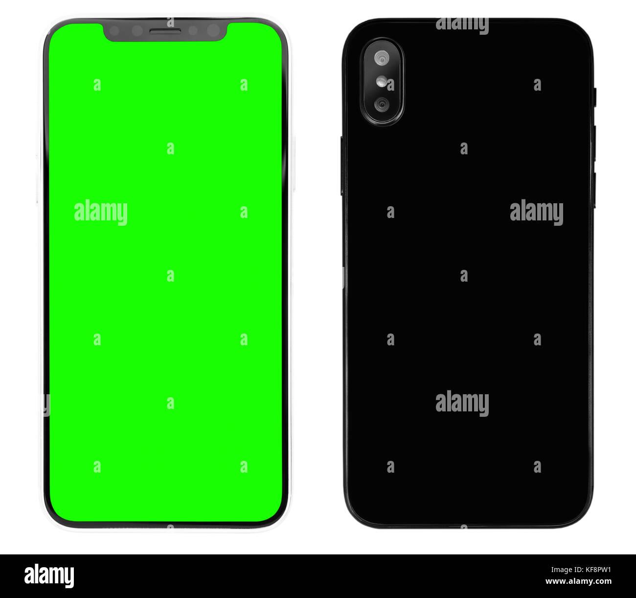 Nuova Smart Phone è Simile A Iphone X Modello Isolato Su Sfondo