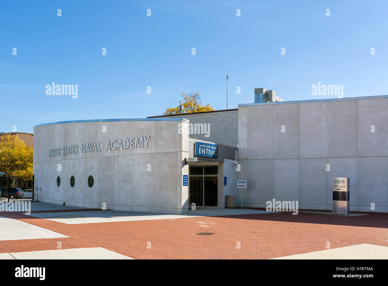 Ingresso all'Accademia Navale degli Stati Uniti, Annapolis, Maryland, Stati Uniti d'America Immagini Stock