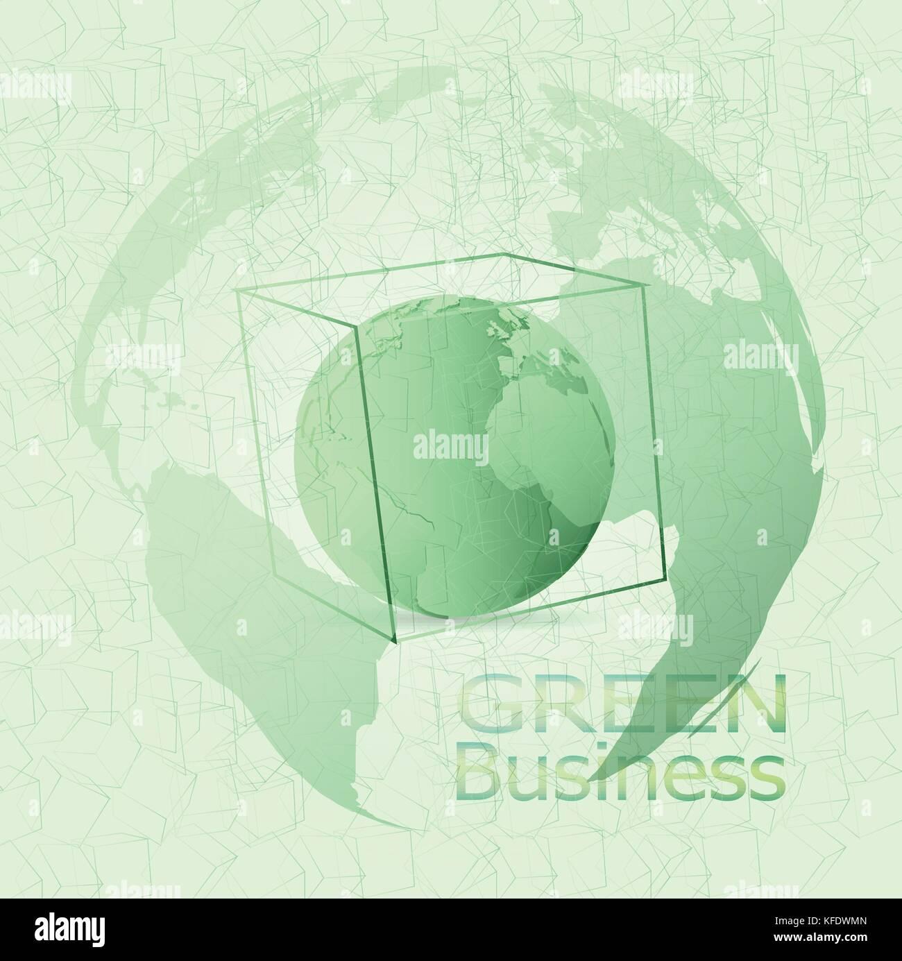 Green Business vettore di fondo. Esso può essere applicato per tipi di presentazione multimediale come lo sfondo,sfondo,immagine,poster,stampa Immagini Stock