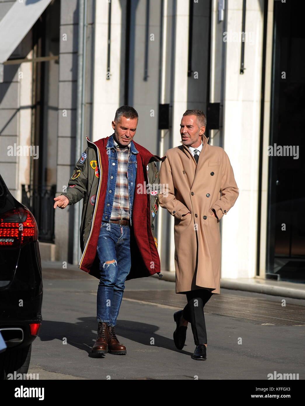 official photos e58a0 e0719 Milano, Dean e dan caten a piedi nel centro di Dean e dan ...