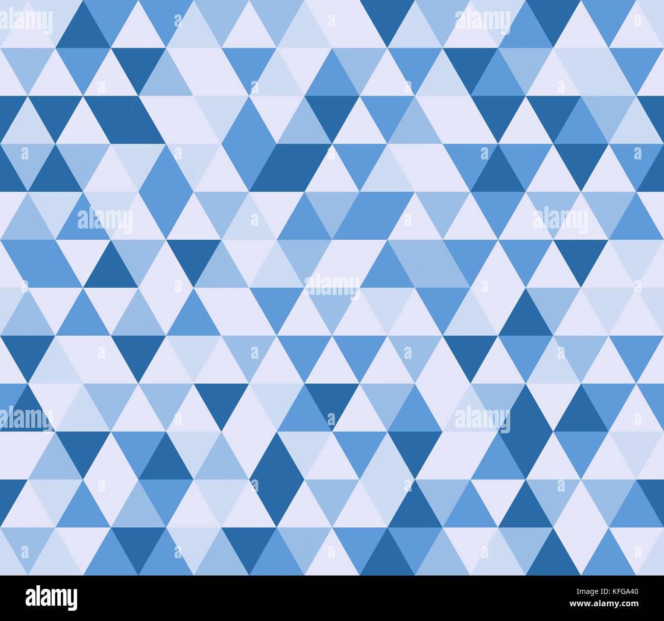 Triangoli blu modello senza giunture Immagini Stock