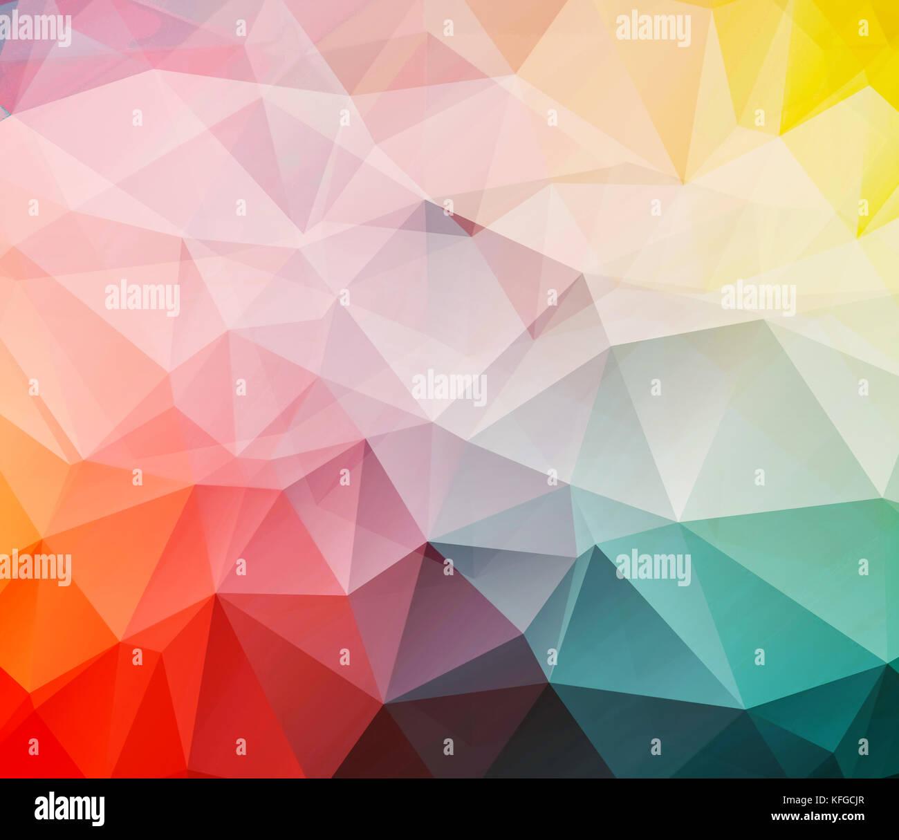 Triangolare sfondo astratto Foto Stock
