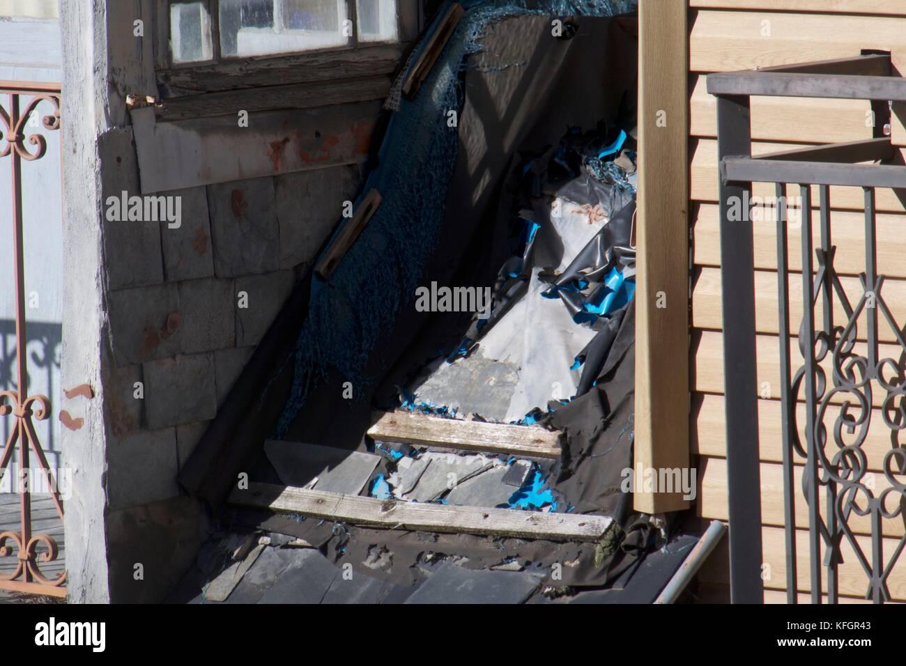 Difettoso sul tetto di un edificio in Francia Immagini Stock
