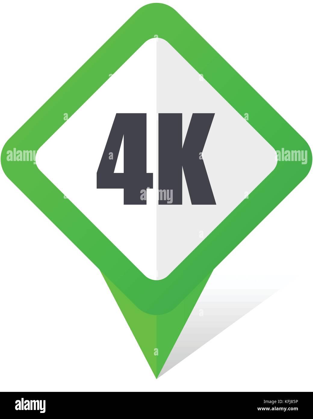 4k Quadrato Verde Puntatore Web E Telefono Cellulare Icona