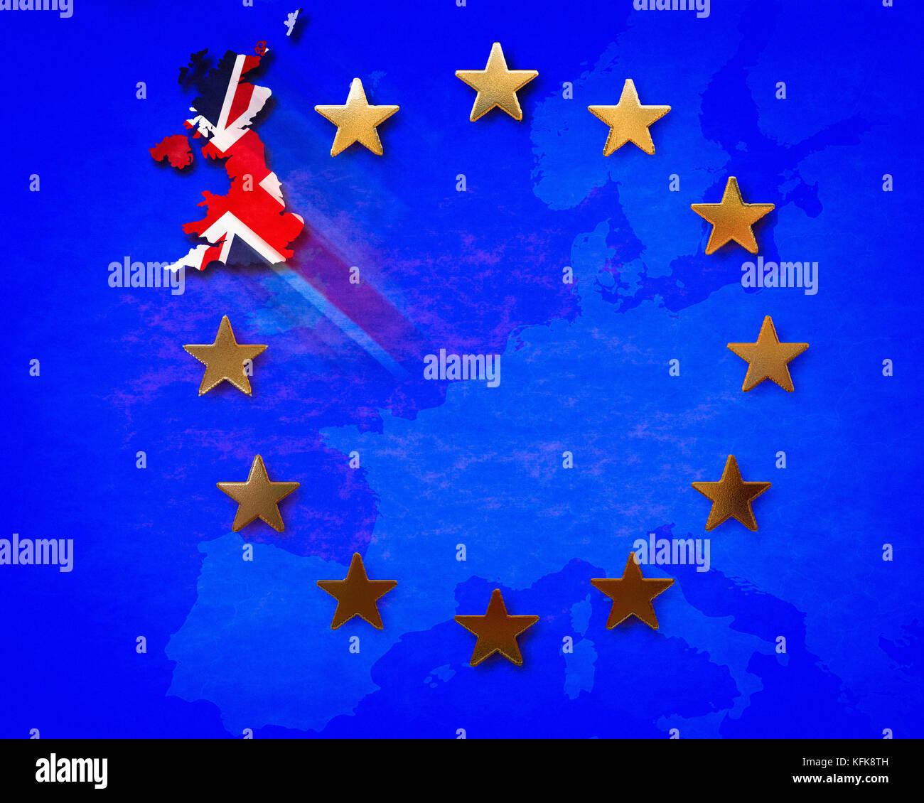 Concetto digitale: brexit Immagini Stock