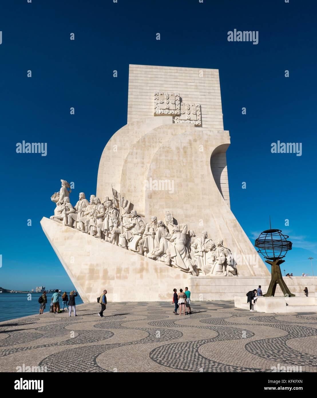 Il Monumento delle Scoperte, Padrão dos Descobrimentos, Belém, Lisbona, Portogallo Immagini Stock