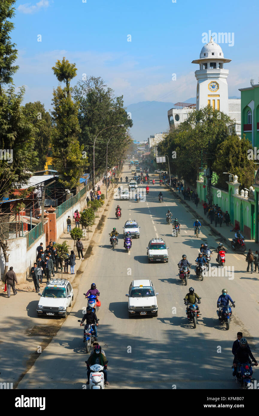 Durbar Marg Avenue, Kathmandu, Nepal Immagini Stock