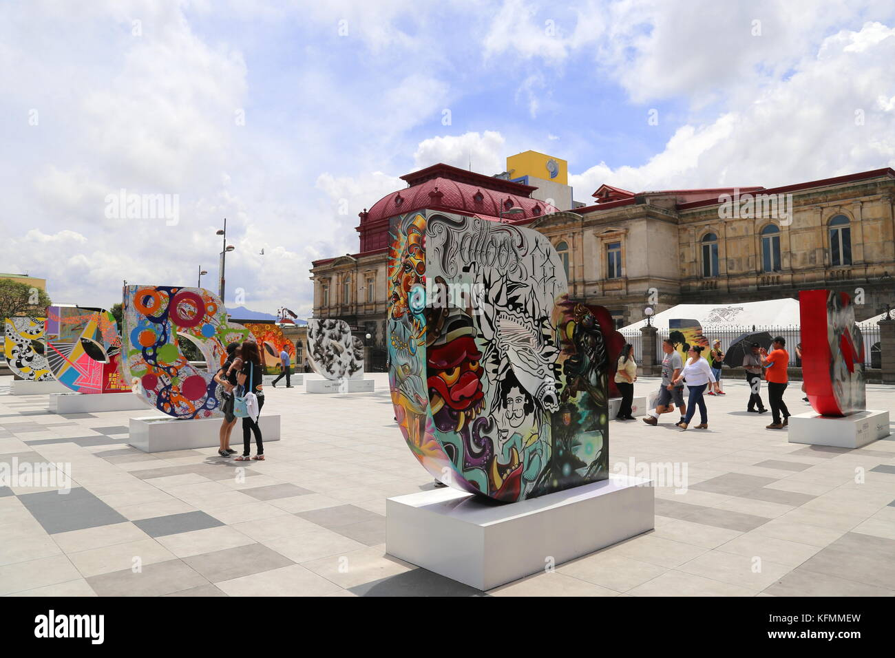 Plaza de la Cultura, Avenida Central, San José, San José provincia, Highlands Centrali, Costa Rica, America Immagini Stock