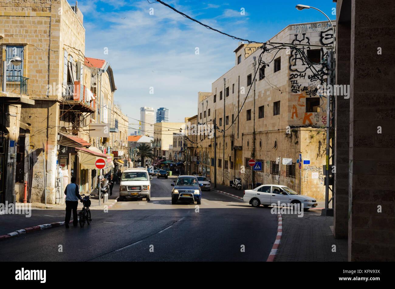 Tel Aviv e Vecchia Jaffa, Israele Immagini Stock