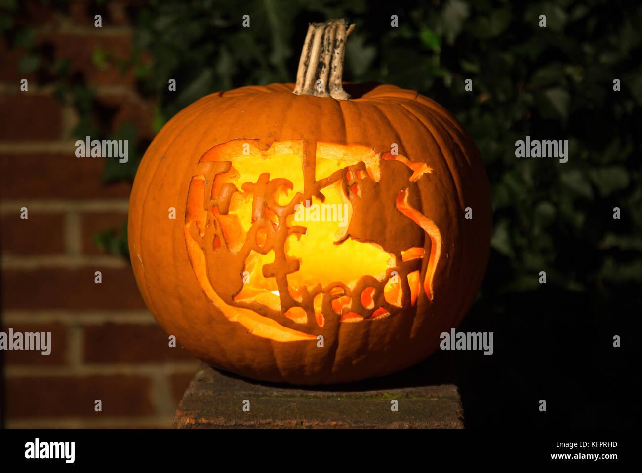 Halloween Londra.Londra Regno Unito 31 Ott 2017 Londra Scolpito Di Halloween Zucca