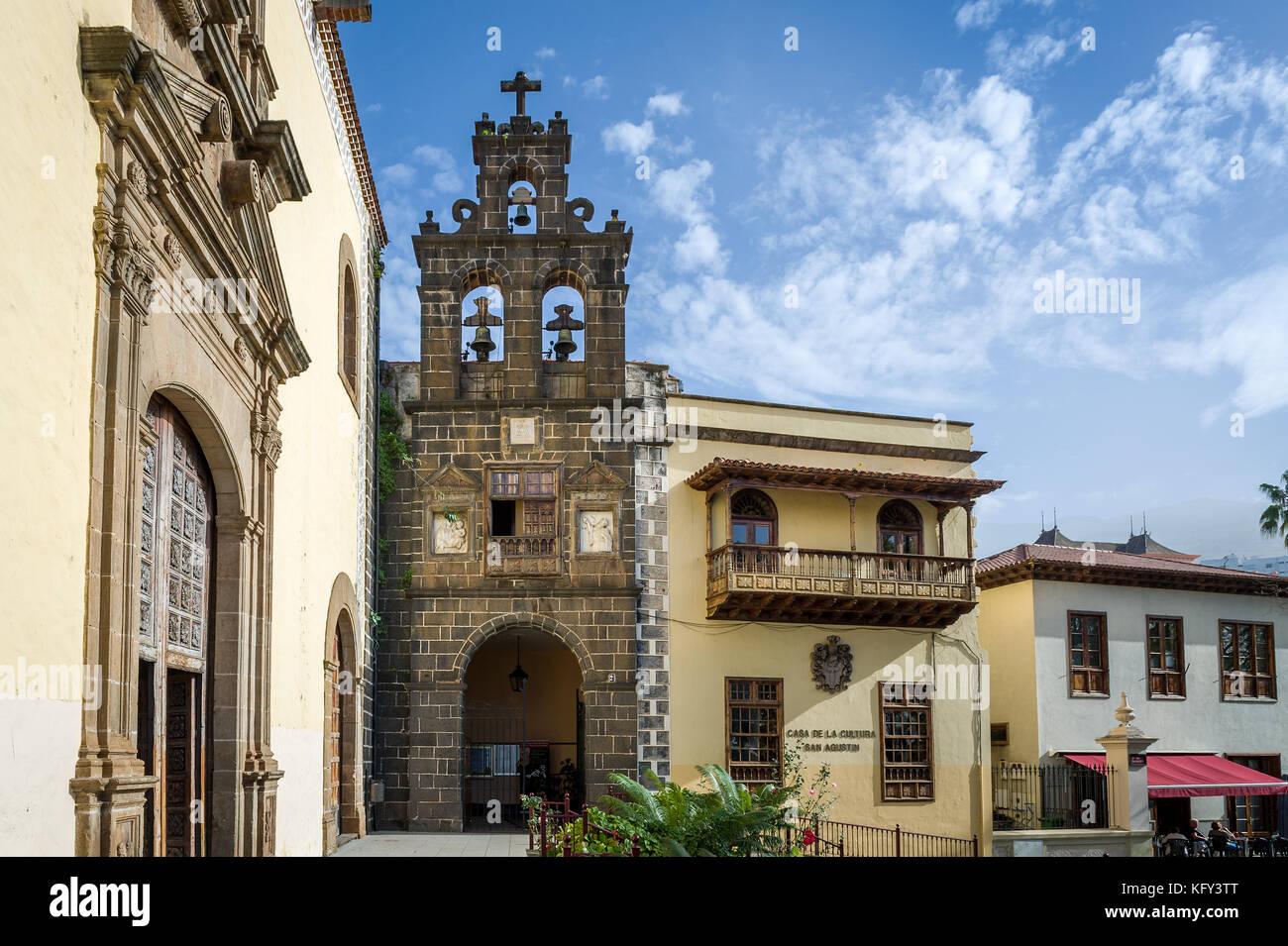Casa de la cultura, la orotava città vecchia, Tenerife. Immagini Stock