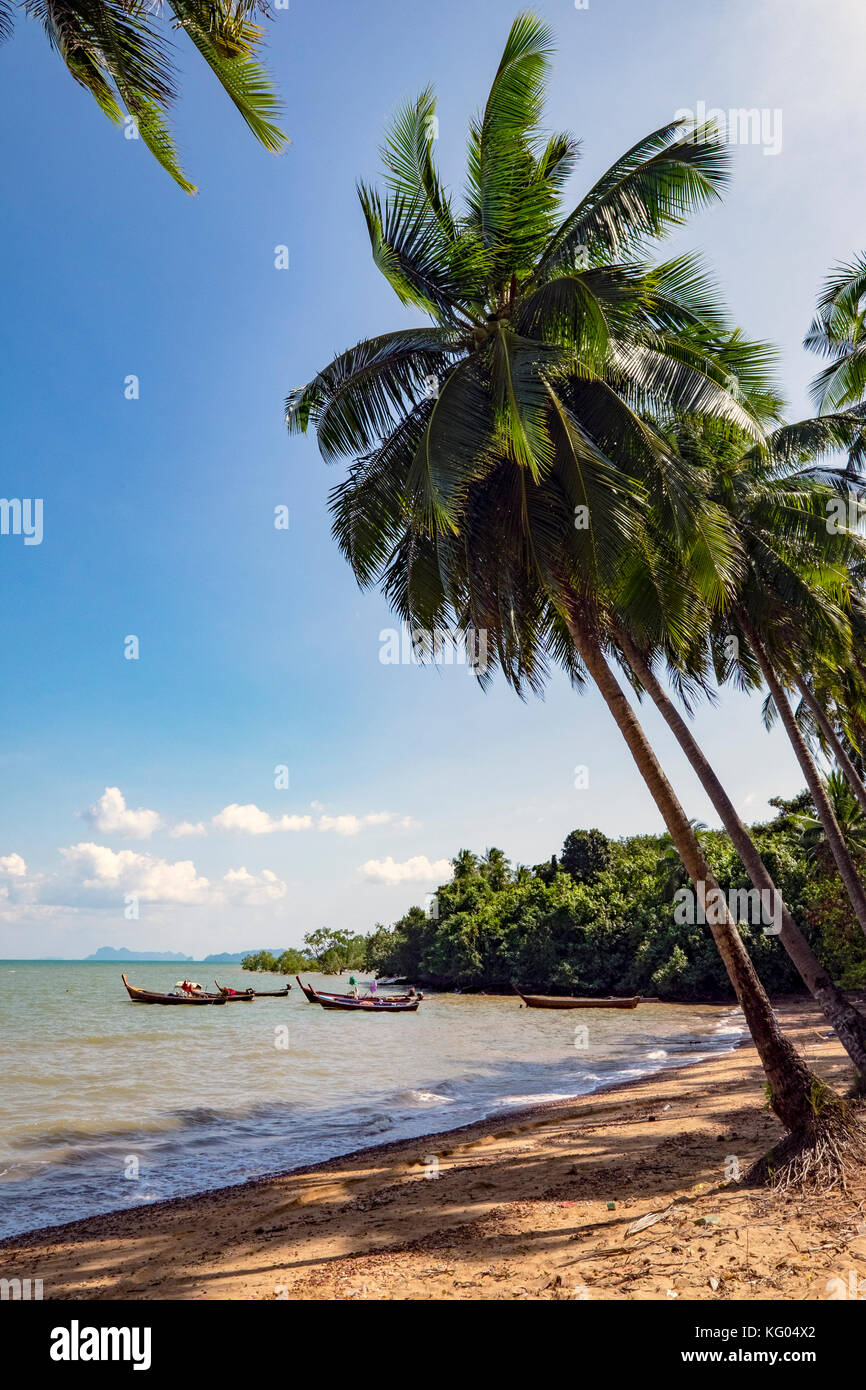 Thailandia. Mare delle Andamane. Koh Lanta island. Klong Khong Beach Immagini Stock