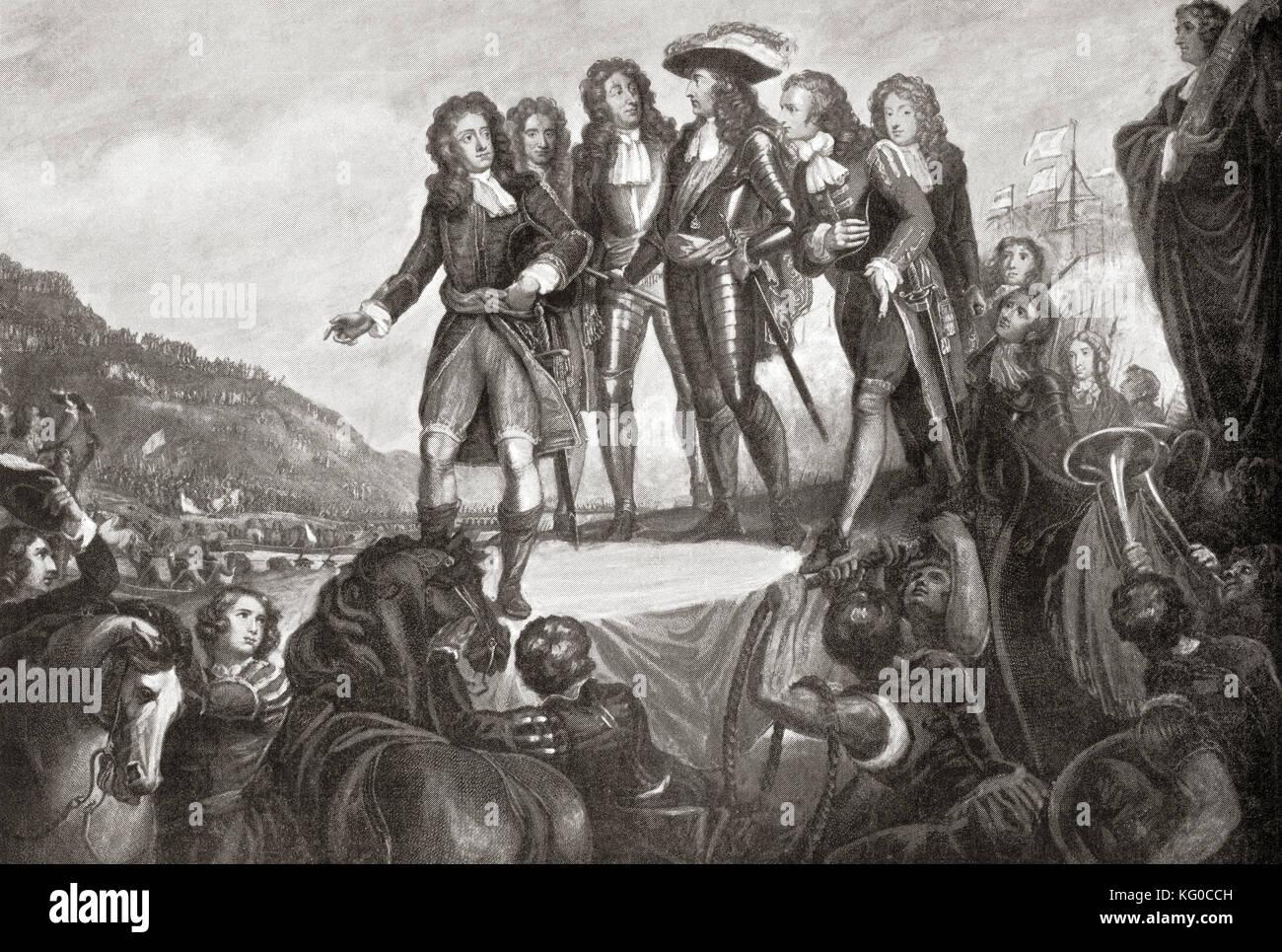 Lo sbarco di Guglielmo d Orange in Inghilterra nel 1688. Guglielmo iii, 1650 a 1702. Re di Inghilterra e Irlanda Immagini Stock