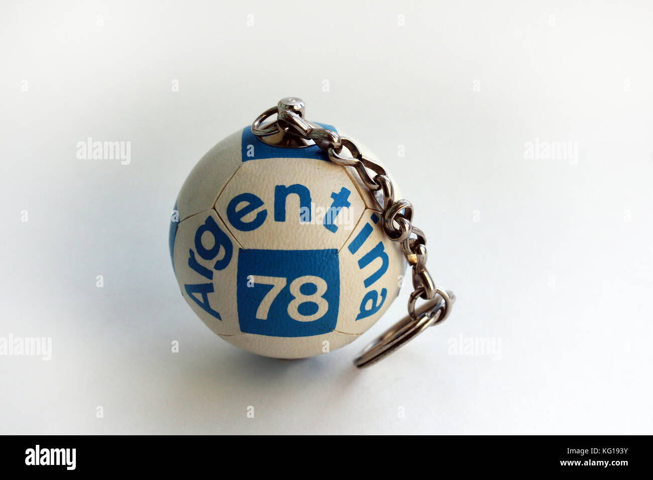 Vintage Football Argentina 1978 FIFA World Cup souvenir portachiavi Immagini Stock