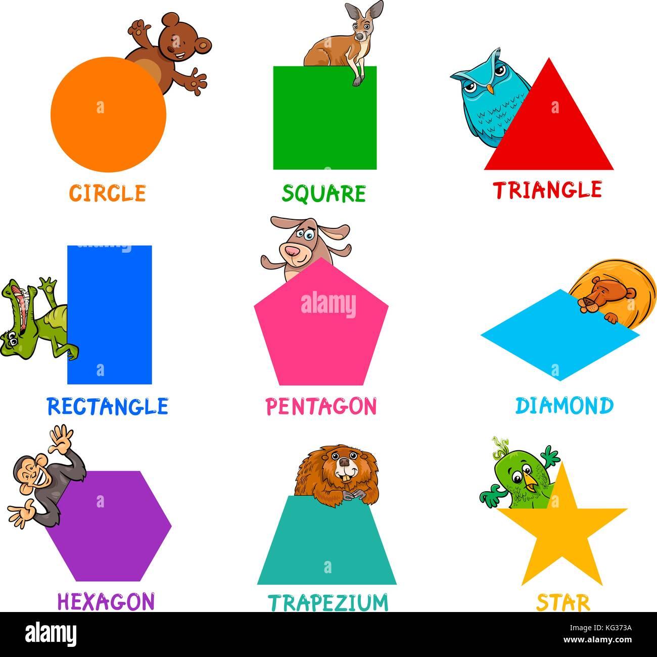 Cartone animato educativo illustrazione delle forme