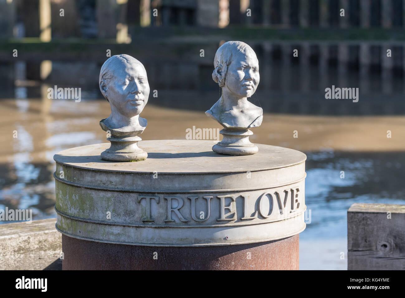 Truelove vero amore scultura di Stefan gec, Kingston upon Hull, England, Regno Unito Immagini Stock