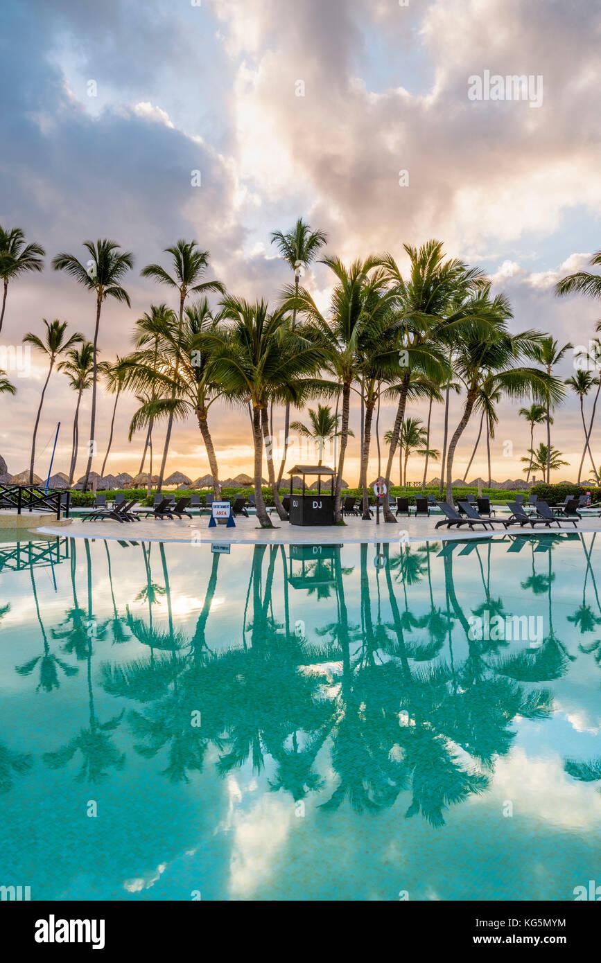 Bavaro Beach, bavaro, higuey, Punta Cana Repubblica Dominicana. beach resort. Immagini Stock