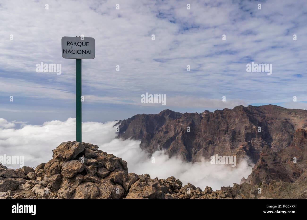 Parco nazionale di cartello. Immagini Stock