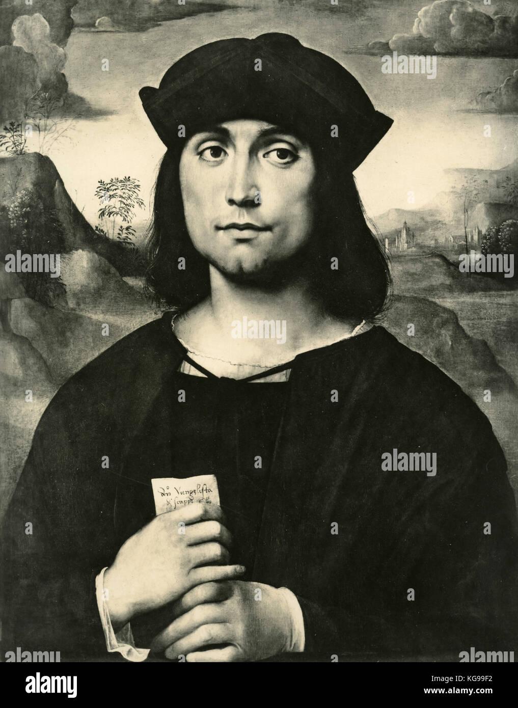 Ritratto di Evangelista Scappi, dipinto da Francesco Francia Immagini Stock