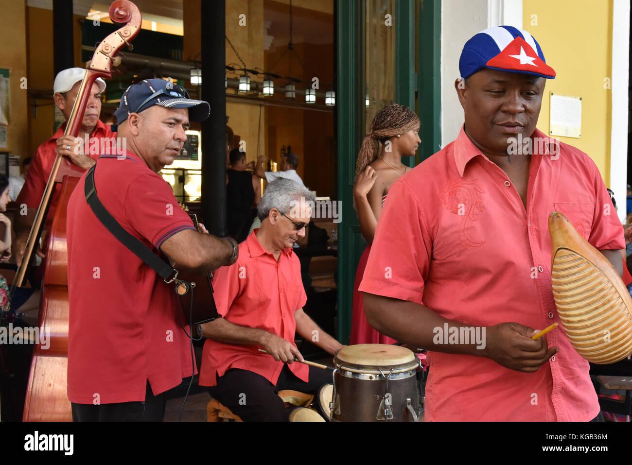 Banda cubana Habana Vieja Cuba Immagini Stock