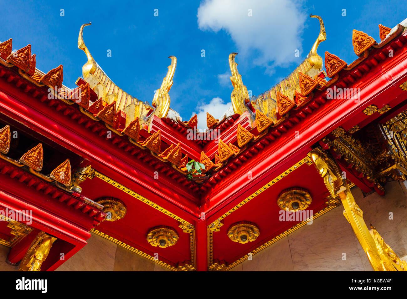 Bangkok, Tailandia - 10 settembre 2016: dettagli architettonici di Wat Benchamabophit conosciuto anche come tempio Immagini Stock