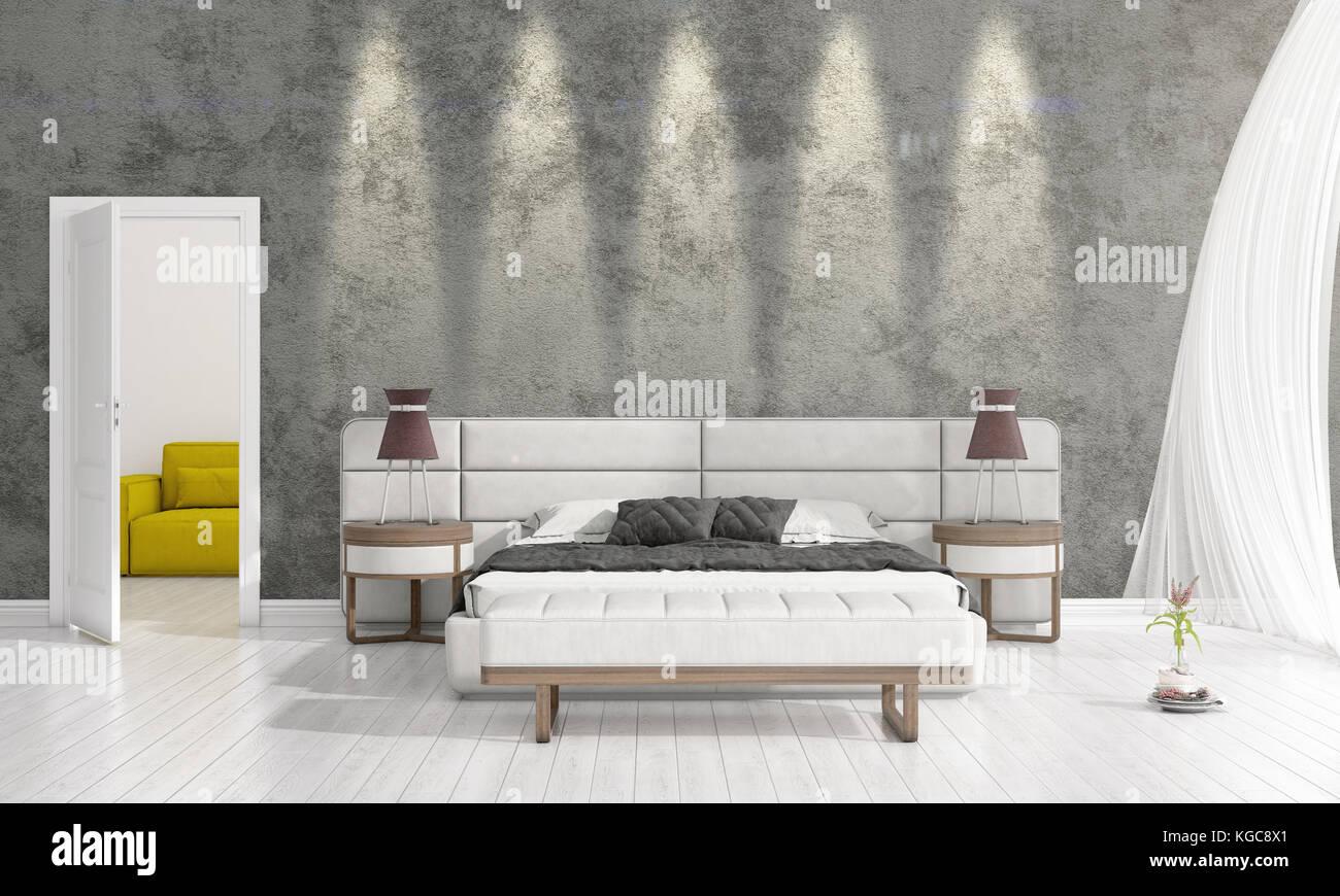 Interior design moderno della camera da letto in vogue con impianti ...