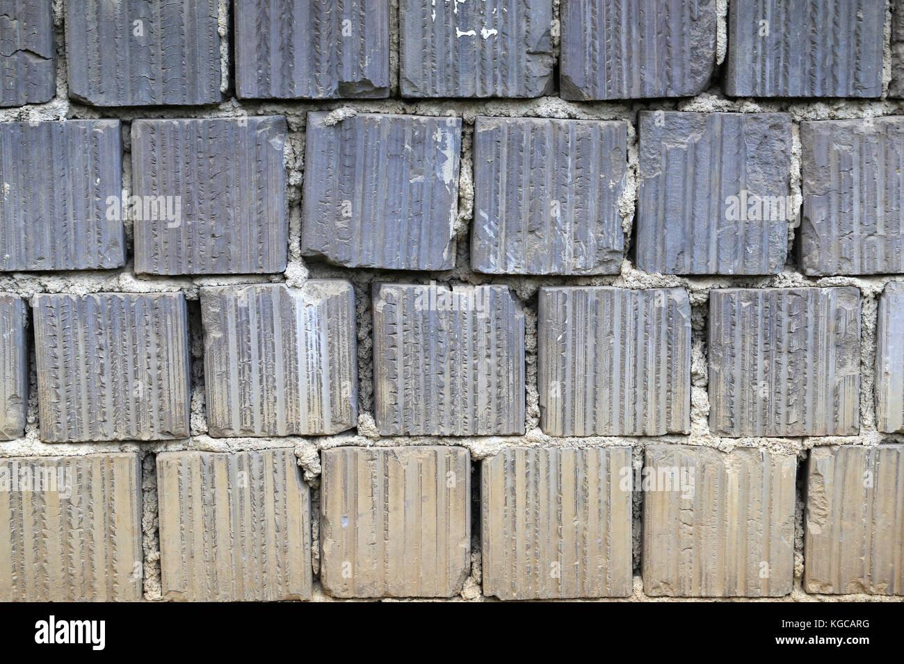 Muro Fatto In Pietra arenaria / muro fatto di pietre naturali foto & immagine