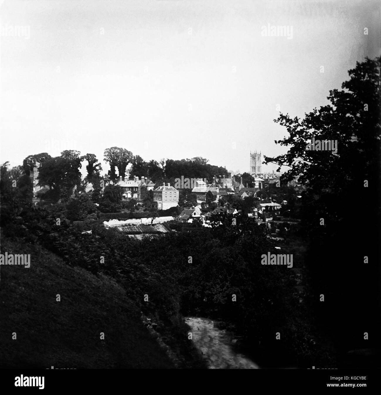 Shropshire immagini storiche nel Regno Unito, le fotografie da un altro secolo. Storica persa scenic in 1900 Immagini Stock