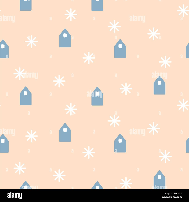 Case semplici forme su un colore rosa pallido sfondo. Immagini Stock