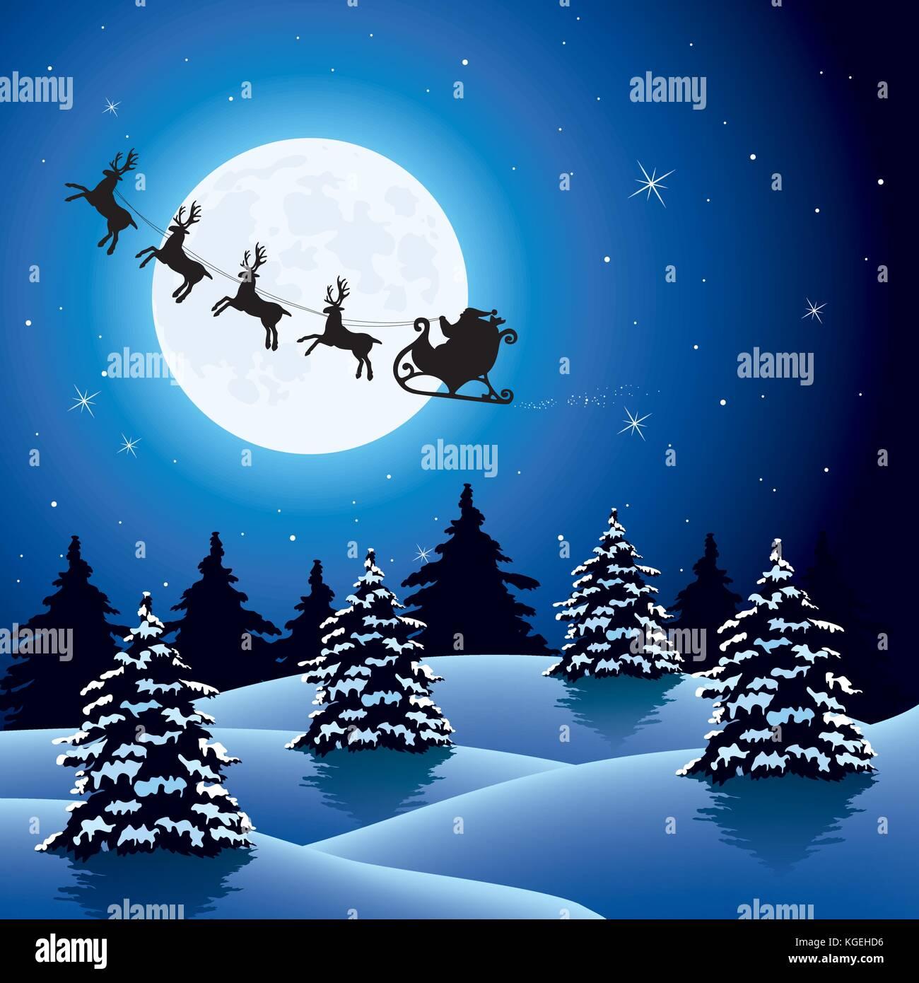 Vettore Vacanze Di Natale Sfondo Con Sagome Di Battenti Di Babbo