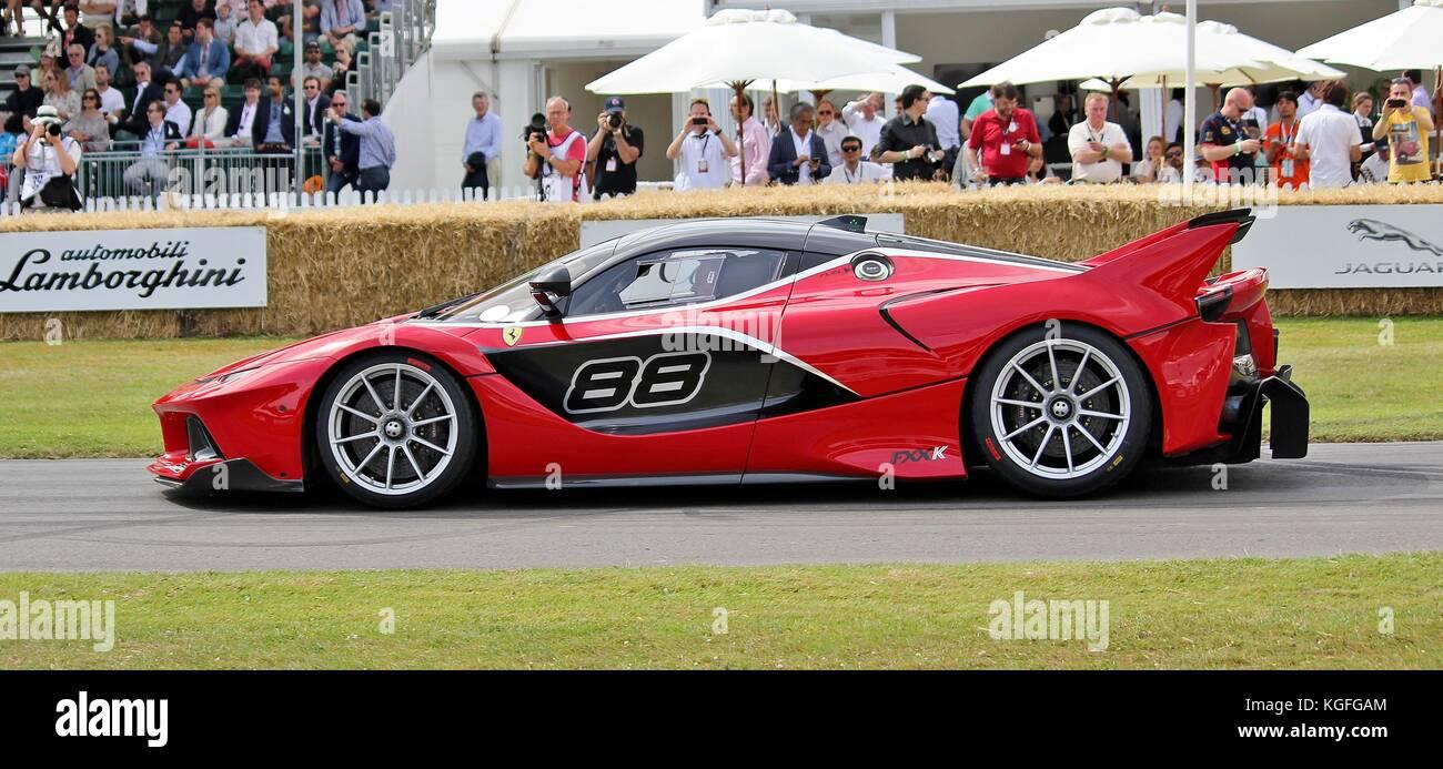 La Ferrari FXX-k a Goodwood Festival della velocità 2015 Immagini Stock