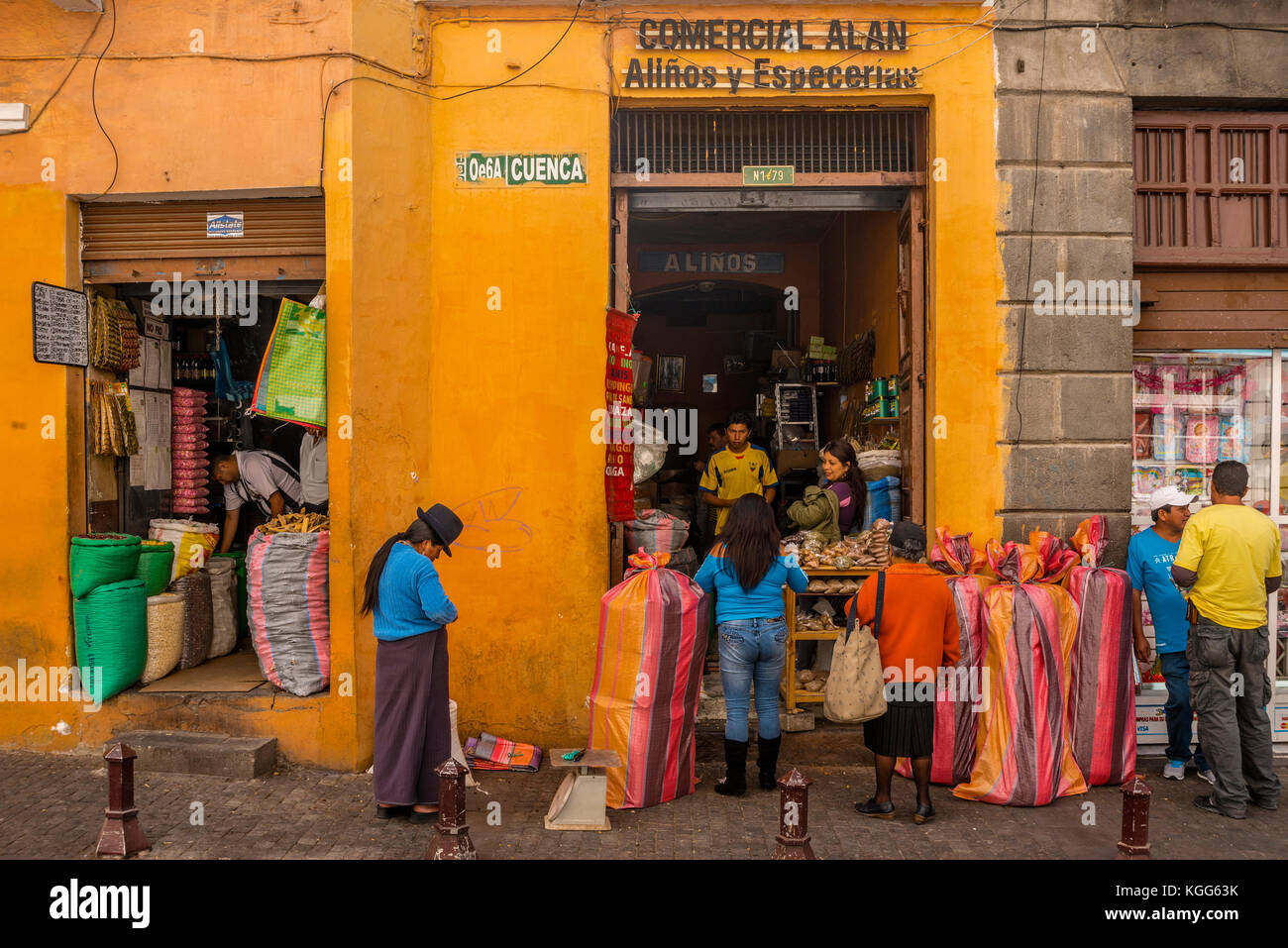 America del sud ecuador quito Immagini Stock