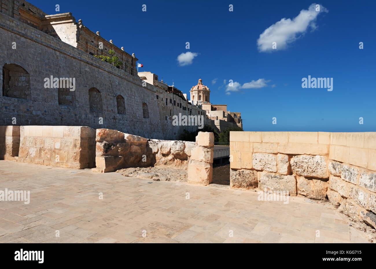 Città di Mdina su Malta Foto Stock