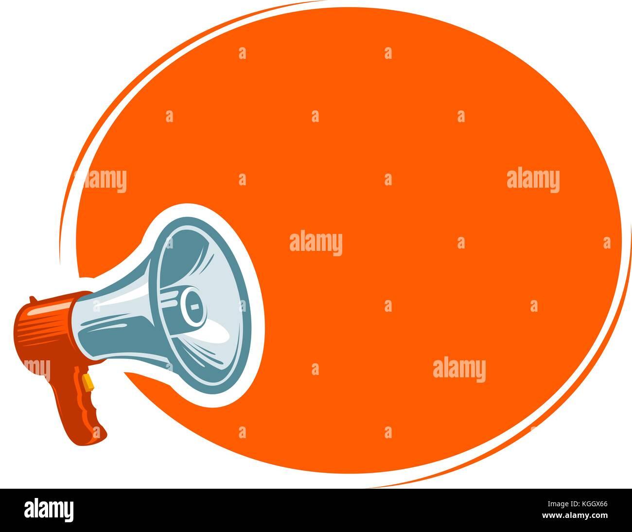 Annuncio, annuncio, concetto di notifica. Messaggio, attenzione banner. illustrazione vettoriale Immagini Stock